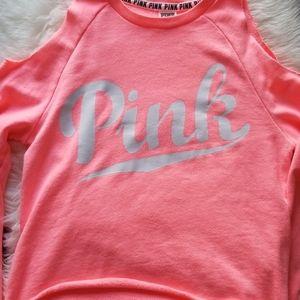 Pink Victoria Secret Cold Shoulder Sweater